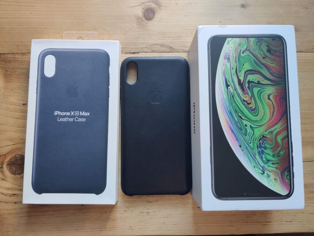 sale retailer 85932 d7ca7 Iphone XS Max 64gb Space Grey EE with apple leather case   in Barrhead,  Glasgow   Gumtree