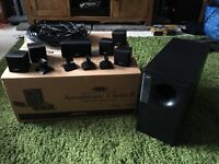 Bose theatre speaker system with front double upgrade