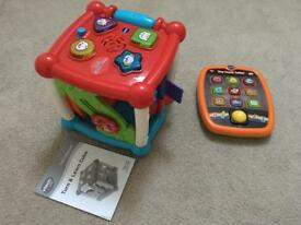 Vtech Turn and Learn Cube & Vtech Tiny Touch Tablet - Immaculate