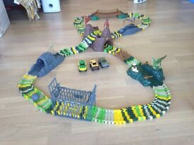 ELC Dinosaur Track with 3 battery operated cars