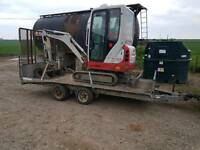 Mini digger hire mini loader hire
