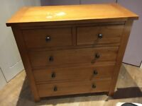 Oak Chest of Draws 2 over 3