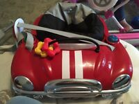 Red car baby bouncer