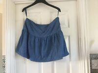 Blue mini skirt Size 12