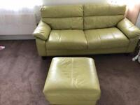 Leather sofa set (good condition)