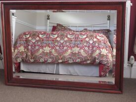 Large Wall Mirror Wth Dark Wood Frame