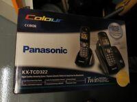 Panasonic Twin Phones - Digital Cordless Answering System KX-TCD322