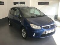 FORD FOCUS C MAX 1.6 16v ZETEC/COMES WITH A FULL MOT/3 MONTHS WARRANTY/LOW MILES
