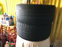 2x 255 35 19 Dunlop Tyres used 2.5mm+