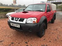 VERY LOW MILES NISSAN NAVARA 2.5 DI TURBO 71000 MILES KING CAB TOWBAR LONGMOT PART/EXCHANGE WELLCOME
