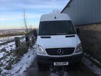 Mercedes sprinter mwb high roof van.2013.euro5.one owner .slam locks.clean van excellent runner
