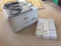 Colour Desktop Printer C510dn plus 3 toners - OKI