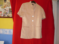 RIVER ISLAND GOLD TOP/JACKET SIZE 12