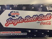 6 tickets for The Jingle Bell Ball, this Sunday 4th December