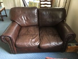 2 double seater leather sofas