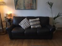 Excellent Condition 3 Seater Leather Sofa £215 - REDUCED PRICE FOR QUICK SALE