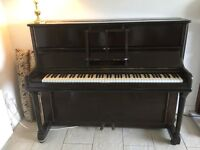 Piano and antique piano stool