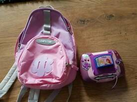 Leapfrog Leapster pink handheld system with games