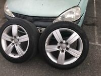Genuine Audi alloy wheels with tyres 17 inch for TT A3 a4 a5 a6