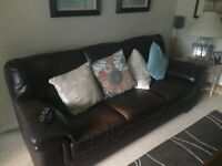 3 piece Leather suite for sale