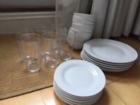 24 piece dinner set - bowls plates and glasses