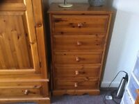 Two Solid Pine Chest of Draws
