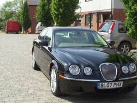 Top of the range 2007 Black 3.0 Jaguar S-Type Auto 56k miles, new MOT and Service