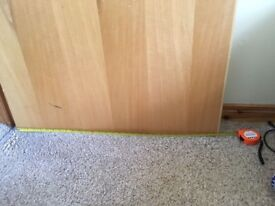 6 wooden doors with handles. good condition. measurements as per picture