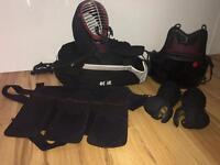 Ready made Kendo Bougu/Bogu set for sale. Men, Kote, Do, Tare and carry bag + Hakama and Kendogi.