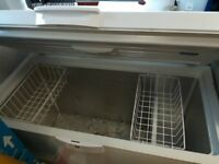 Chest freezer used for storing fish