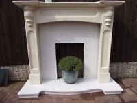 fire surround with marble hearth