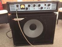 Ashdown bass rig ABM 300 watt head + Mag 115 200 watt cab