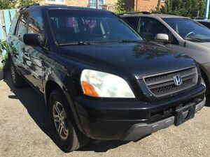 2004 Honda Pilot Leather Sunroof 8 Pass Alloys All Pwr VERY CLEA