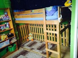 Children single bunk bed with new mattress