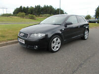 AUDI A3 SPORT 2.0 TDI DIESEL 6 SPEED STUNNING BLACK NEW SHAPE BARGAIN ONLY 2450 *LOOK* PX/DELIVERY