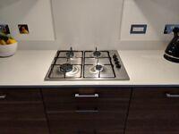 Siemens iQ100 Gas Cooker Hob, Stainless Steel, Cast-Iron Finish, EB6B5PB60