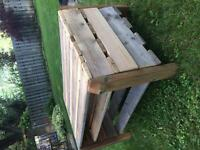 Hand made pallet tables