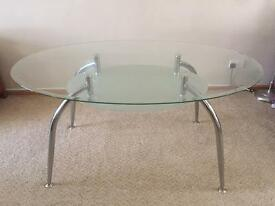 4 6 Seater Glass Dining Table With Matching Coffee