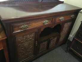 Fabulous Antique Edwardian Carved Mahogany Buffet Sideboard Server