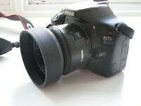 Canon EOS 550D with 2 lenses for sale