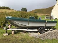 17ft Wilson Flyer boat and Trailer - No Outboard.