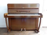 W H Barnes Dalmaine piano, overstrung, fully reconditioned, repolished, 3-year-guaranteee, a gem