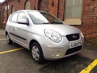 2010 Kia Picanto 1.0 ONLY 30k Miles Long Mot. Reliable. Cheap 5 Door £30 Tax