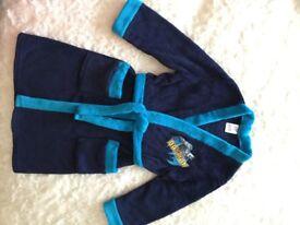 Boy's Batman soft fleece dressing gown. Age 5-6 years.