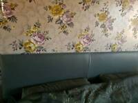 Grey faux leather super king size bed 4 drawers and free mattress