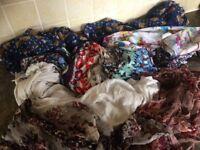7 large ladies scarves