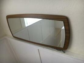 VINTAGE RETRO Mid Century Style Mirror Horizontal Hanging