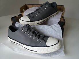 Converse Allstars Grey Leather Size 9