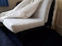 Bed settee (IKEA LYCKSELE) with cover and under storage box