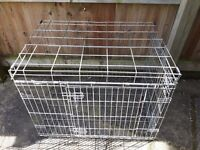 Large Heavy Duty Metal Dog Cage - Car Carrier / Puppy Training 93cm x 62 x 69cm